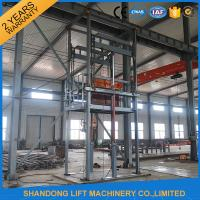 Wholesale Guide Rail Chain Hydraulic Elevator Lift , 4 Post Material Lifting Equipment 4 tons 6m from china suppliers