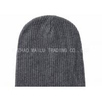 Wholesale Dark Gray Flat Knitted Baby Hats Handmade Wool Crochet Hats For Women from china suppliers