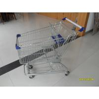 Wholesale Zinc Plating Q195 Low Carbon Steel 100L Supermarket Shopping Cart With Baby Seat from china suppliers