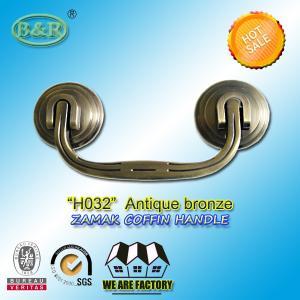 Wholesale H032 Zamak Burial Casket Metal zinc alloy Coffin Handles Screw Holes Distance 14cm size 20*9 cm from china suppliers