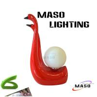 Wholesale Resin Wedding Bed Lamp Swan Sweet Design MS-T2002 for indoor decoration E27 Base from china suppliers