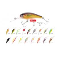 Wholesale High quality  Hard Plastic artificial  lures  Wobblers MIN15 size 8cm weight 10g from china suppliers