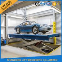 Wholesale Safety Stationary Hydraulic Scissor Car Lift for Home Garage Car Parking 3.3M Travel Height from china suppliers
