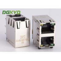 Wholesale OEM/ODM stacked 2 port Communiation connection jack RJ45 Network Cable socket from china suppliers