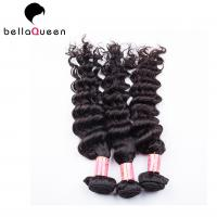 Quality Natural Black Deep Wave Brazilian Virgin Human Hair Extension For Women for sale