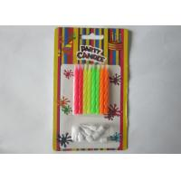 Wholesale Funny No Drip Bright Happy Birthday Cake Candles 8Pcs / 6.3G For Home Decoration from china suppliers