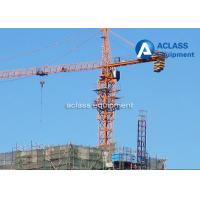Quality 65m Jib Construction Hammerhead Tower Crane 1.8t Tip Load Counter Weight for sale