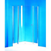 Wholesale Curved Pivot Shower Enclosure / Clear Glass Shower Enclosures With Stable Fixed Shower Doors from china suppliers