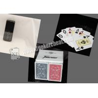 Wholesale Spain Fournier 2818  Plastic Marked Playing Poker Cards For  Analayzer  Red / Blue from china suppliers