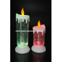 Wholesale Battery Operated Swirling Glitter Electric LED Christmas Candles for Festival Decoration from china suppliers