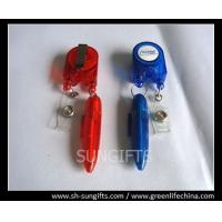 Wholesale Red/blue stylish badge reel with ball pen and clear vinyl strap from china suppliers