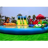 Wholesale Large Inflatable Water Parks with Inflatable Slide And Pool for Outdoor Playing from china suppliers