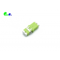 China TF Type OM5 Adapter LC PC SC Footprint Lemon Green DX MM Fiber Optic Adapter With Reduced Flange on sale