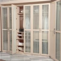 Wholesale Warm White Glass Door Melamine Wardrobe Hinge With Drawer / Trousers Rack from china suppliers