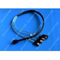Wholesale Internal HD Mini SAS (SFF-8643) to 4 SATA Reverse Breakout Cable 0.5m from china suppliers