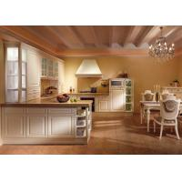 Wholesale American Solid Wood White Laminate Kitchen Cabinets U Shaped Tanditional Design from china suppliers