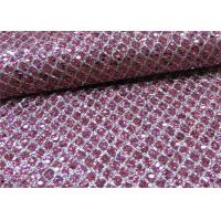 Wholesale Soft Handfeeling Glitter Mesh Fabric Design Pu Synthetic Leather For Shoe from china suppliers