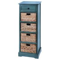 Buy cheap Green Wooden Straw Basket Drawers Cabinet Cupboard Furniture from wholesalers