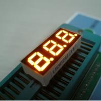 Wholesale Three Digit Mini 7 Segment LED Display Multiplexing For Indicator Yellow from china suppliers