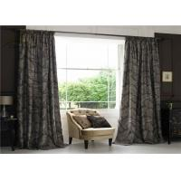Wholesale Textile Jacquard Window Curtains / Commercial Blackout Curtains With Two Layers from china suppliers