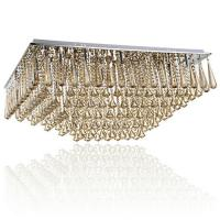 China Leaded Glass Crystal Ceiling Light , Contemporary Suspended Decorative Chandelier on sale