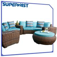 Wholesale Luxury Furniture Outdoor Sectional Sofa Set Modular Chunky PE Rattan Patio Garden from china suppliers