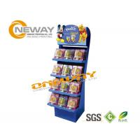 Wholesale Snacks Child Food Corrugated Cardboard Display Stands Free Design from china suppliers