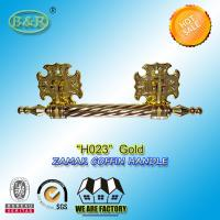 Wholesale Zinc Casket Metal Handles ,metal Funeral accessory 30 X 9.5cm gold color zamak coffin bar from china suppliers