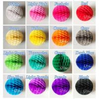 Wholesale Round Paper Honeycomb Balls Colorful from china suppliers