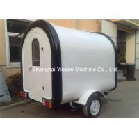 Quality Fiberglass Street Food Vending Carts , Mobile Kitchen Cart Catering Trucks for sale