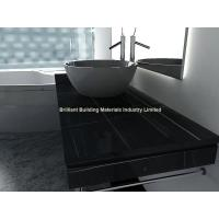 Wholesale Hunan Ink Black Marble Bathroomm Countertops,Black Marble Vanity Top from china suppliers