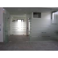 Wholesale 12MM plain tempered glass with frosted film as wall and door from china suppliers