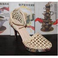 Wholesale Brand Nature Braided High Heeled Sandals ladies quality platform shoes OEM/ODM factory from china suppliers