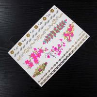 Wholesale Customizable Paper Printing Women Hair Tattoo Sticker Temporary Non Permanent from china suppliers