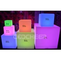 Wholesale 40cm Remote Control Led Bar Stools Plastic RGB Cube Led Furniture from china suppliers