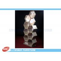 Wholesale Showroom Cosmetics Exquisite MDF Wooden Display Stands Customize With Special Shape from china suppliers