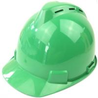 China Head Protective Hard Hat EN397 ABS HDPE Safety Helmet Construction With Vent on sale