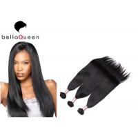 Wholesale Natural Black European Virgin Hair Extension , Straight Human Hair Weaving from china suppliers
