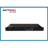 Triple - Play OLT Optical Line Terminal , Black Color 4 Ports 1.25G Small OLT GEPON