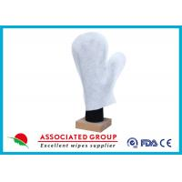 Wholesale Thumb Shape Body Wet Wash Glove Big Pearl Dot Spunlace With Yarns Sewing from china suppliers
