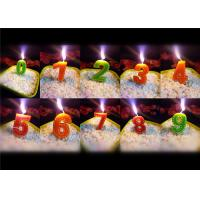 Wholesale Newest Stitches Printed Number Birthday Candle 9.5g White Short Line Border Wax from china suppliers