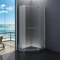 Quality 900x900 Diamond  Bathroom Shower Enclosure Clear Glass 1900 Height for sale