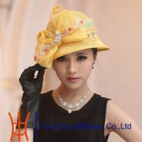 China Ladies Sinamay Women Ladies Sinamay Hats With Bow Trimming For Party In Summer on sale