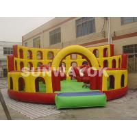 Wholesale Red Bull commercial inflatable bouncers Playground With 8 x 8 x 3.6m Plato TM from china suppliers