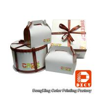 Wholesale Custom Made Cake Packaging Boxes , Cardboard Handmade Cake Box Packaging from china suppliers