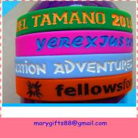 Wholesale most popular silicone bracelet with debossed ink colored from china suppliers