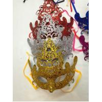 Wholesale Halloween Half Face Glittered Mask Masquerade Carnival Cosplay Party Mask from china suppliers
