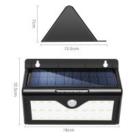 Wholesale Super Bright Outdoor Solar LED Security Light With 46 LEDs Black Color from china suppliers