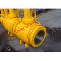 Wholesale API ISO CE Standard Fully Welded Ball Valve , Metal Seated Ball Valves from china suppliers