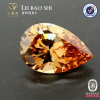 Quality wholesale price Synthetic Tanzanite Color Pear shape brilliant cut faceted cz gemstone for sale